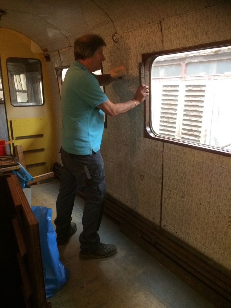 Mike Rigg at work with an RMB window frame.