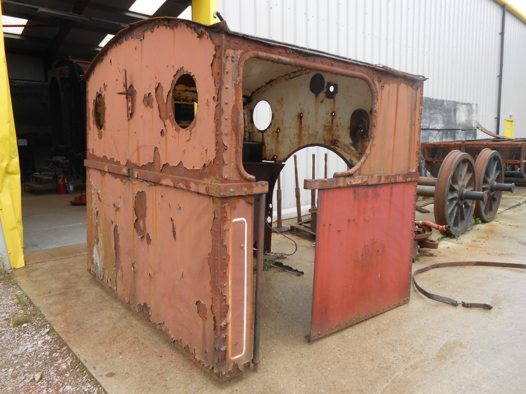 Caliban's cab retrieved for sand blasting