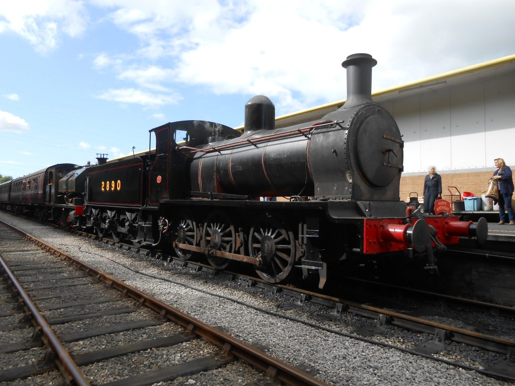 2890 ready to depart with its first train after restoration
