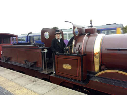 Alan at Shildon's Steam Punk event