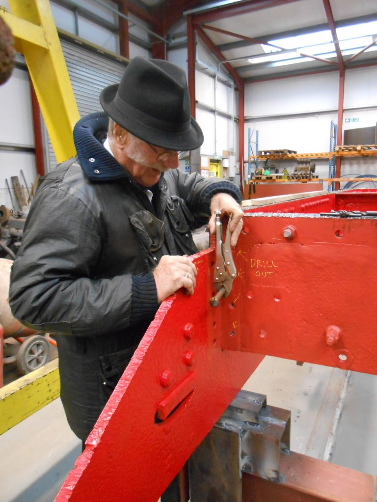 JH at work on a GWR loco!