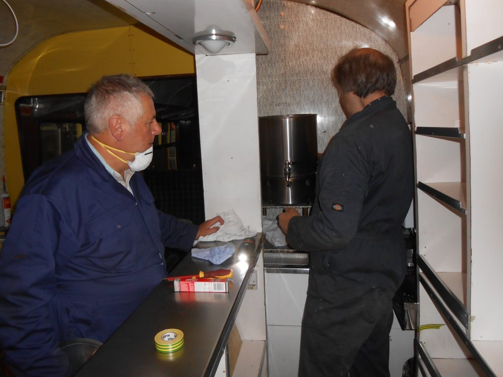 John Davis and Mike with the water boiler in the RMB