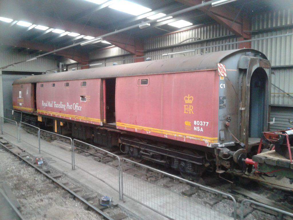 The TPO coach waiting a move into the FRT shed