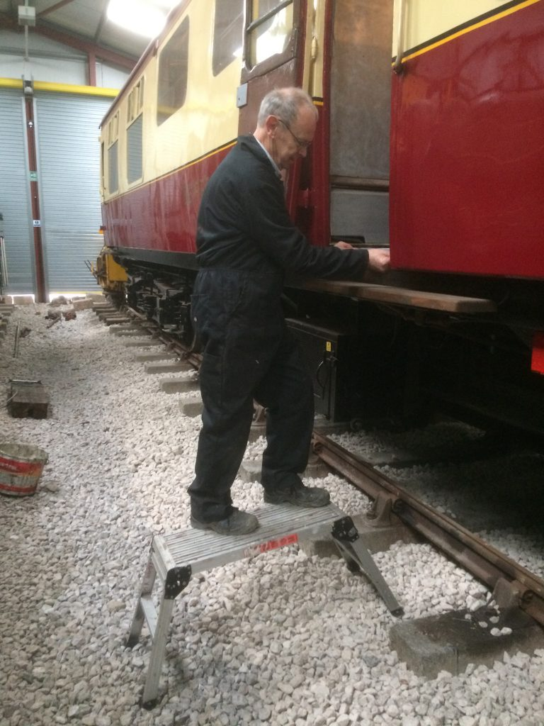 John Dixon fitting door seals on the RMB