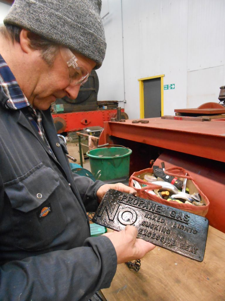 Mike reveals the newly produced RMB gas cover plate