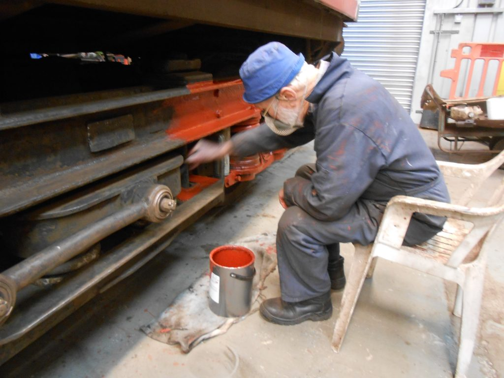 Roger Benbow priming one of the TPO bogies