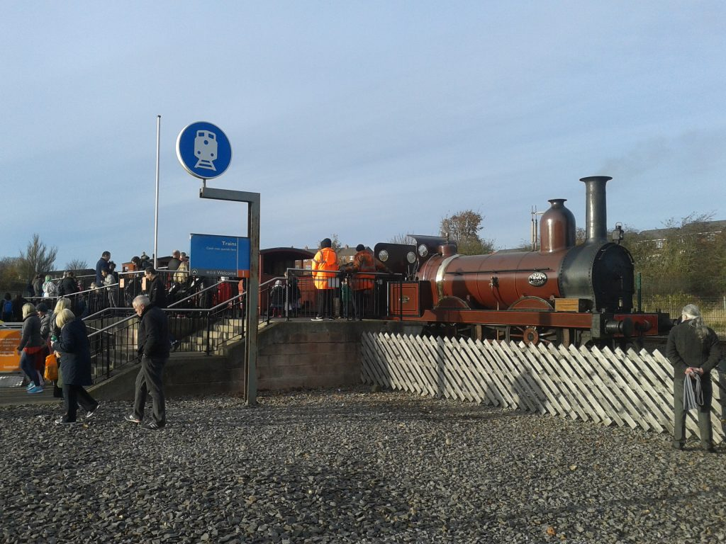 A busy scene at locomotion, Shildon, on Saturday