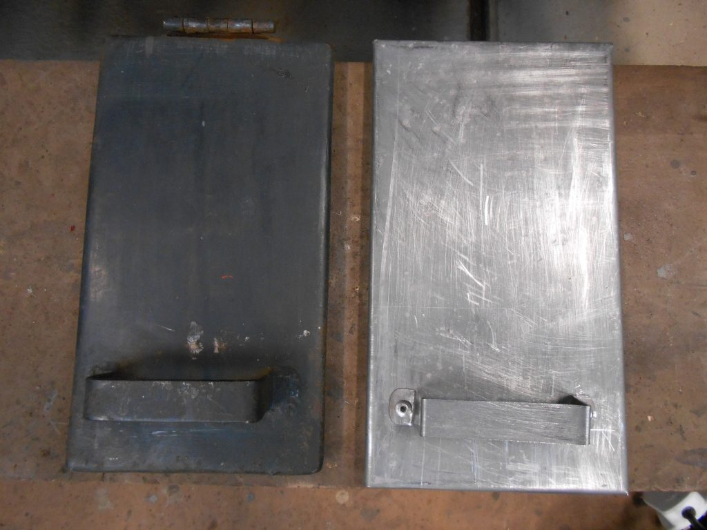 New TPO filler cover (right) ready for fitting alongside the other cover