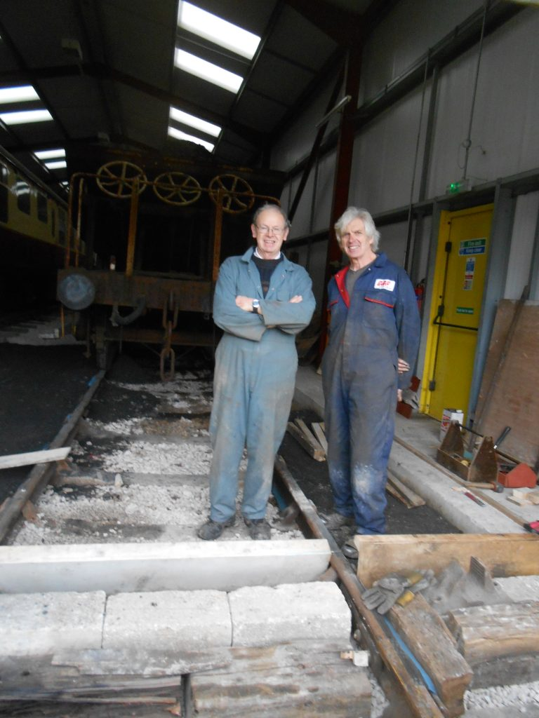 John Dixon and Ed take a break from preparing shuttering to smile for the camera