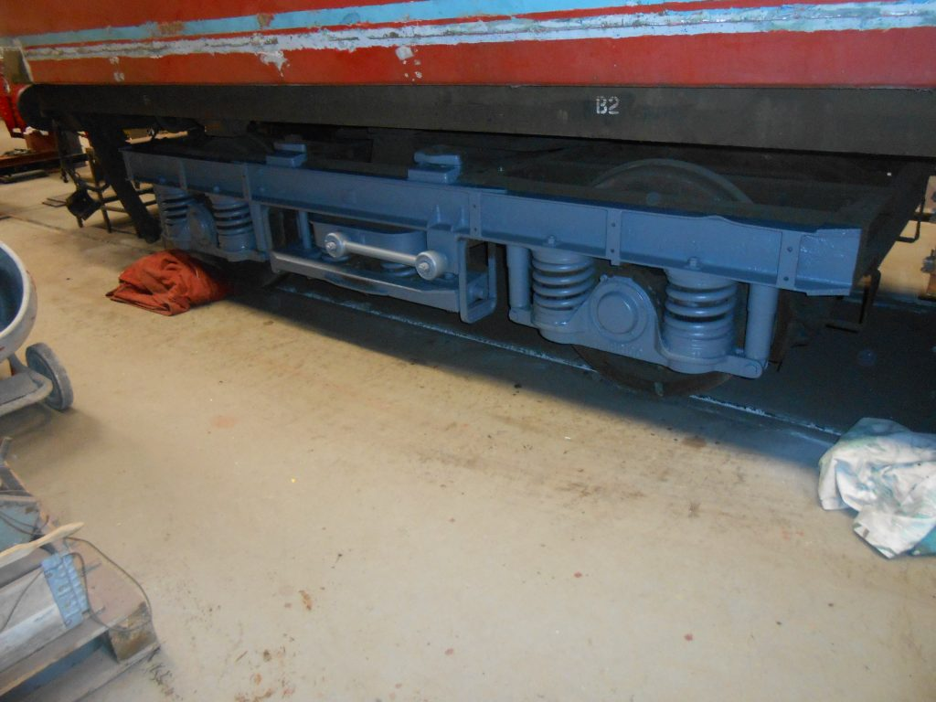 One of the TPO bogie sides in grey undercoat