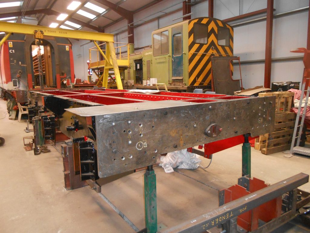 More steelwork has been added to the rear of Wootton Hall's tender chassis