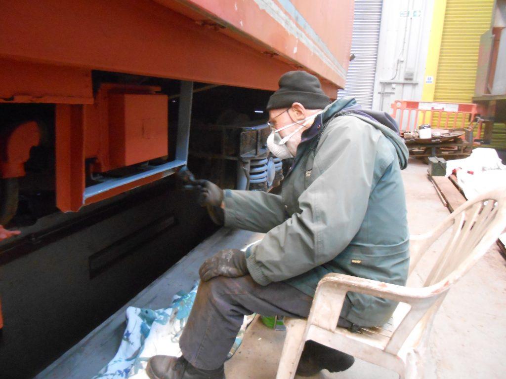 Roger paints the TPO frames