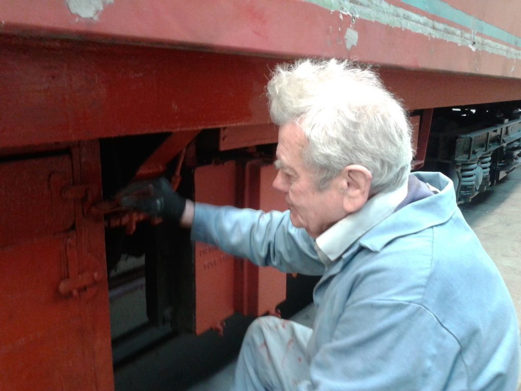 Fred at work on the TPO underframe