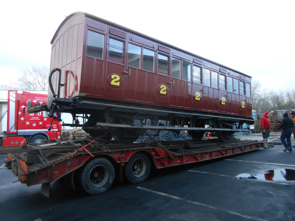 The North London Railway coach loaded ready to go to Beamish 31.01.18