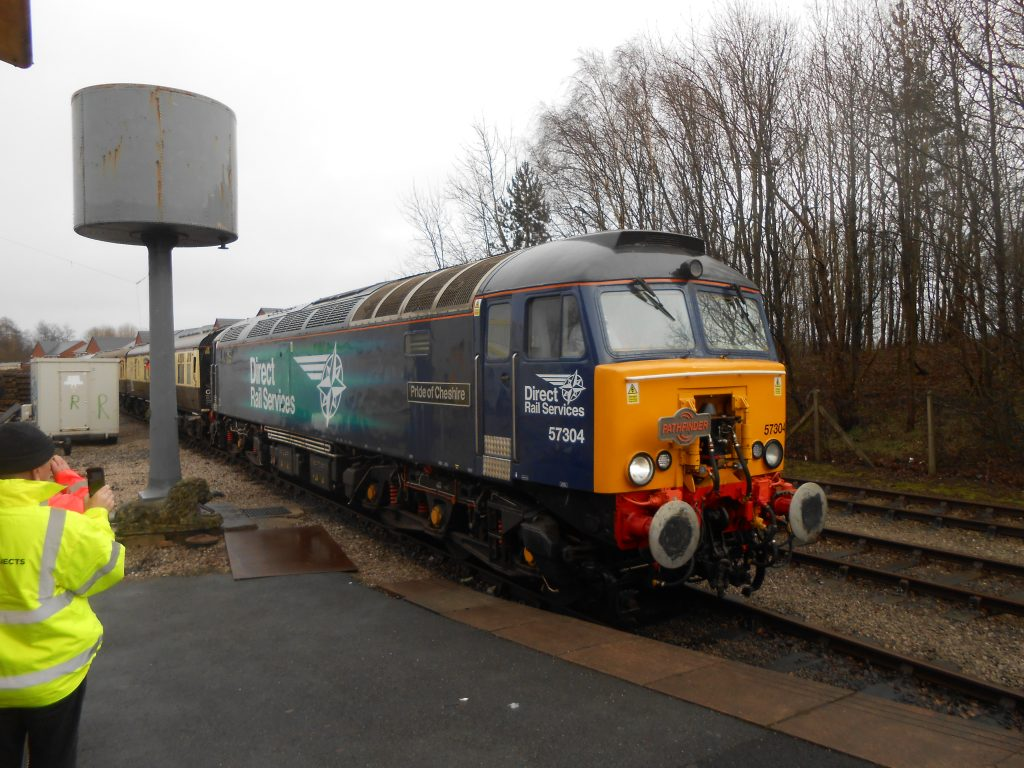 57 304 brings in the train from Eastleigh