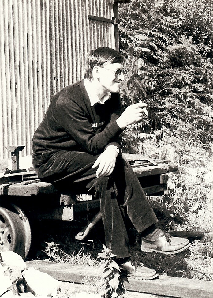 Younger days, with cigar, at the DFR