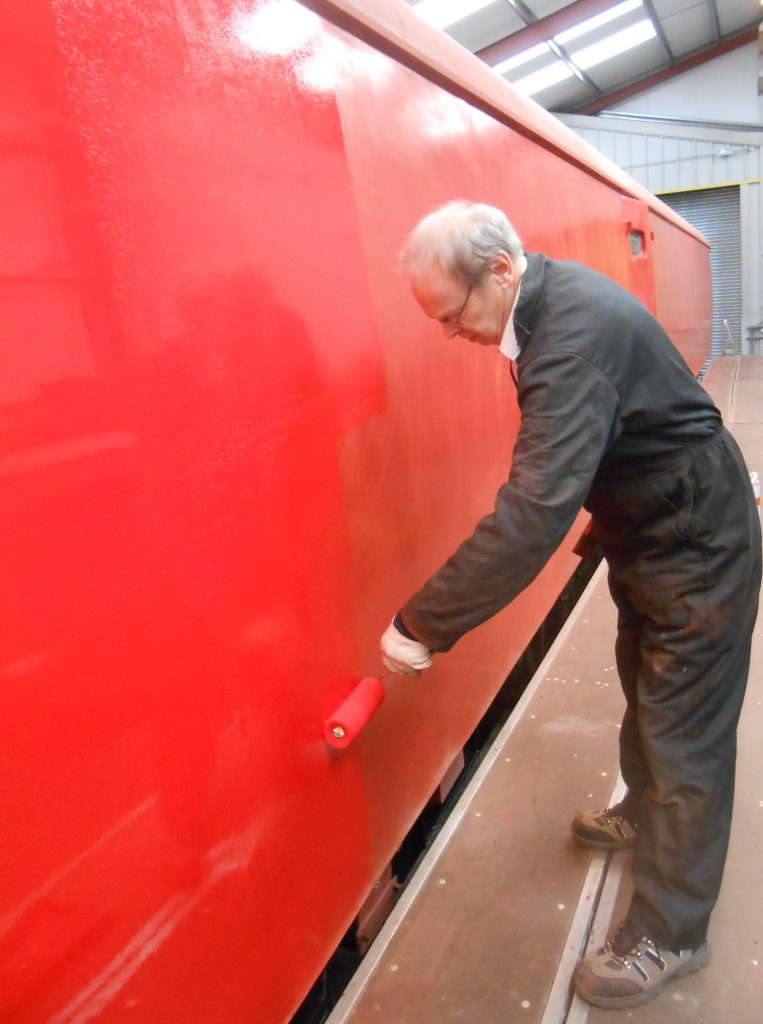 John painting the TPO coach on Saturday