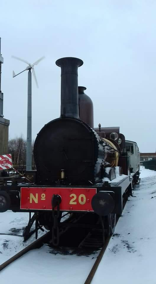 FR 20 in the snow at Shildon