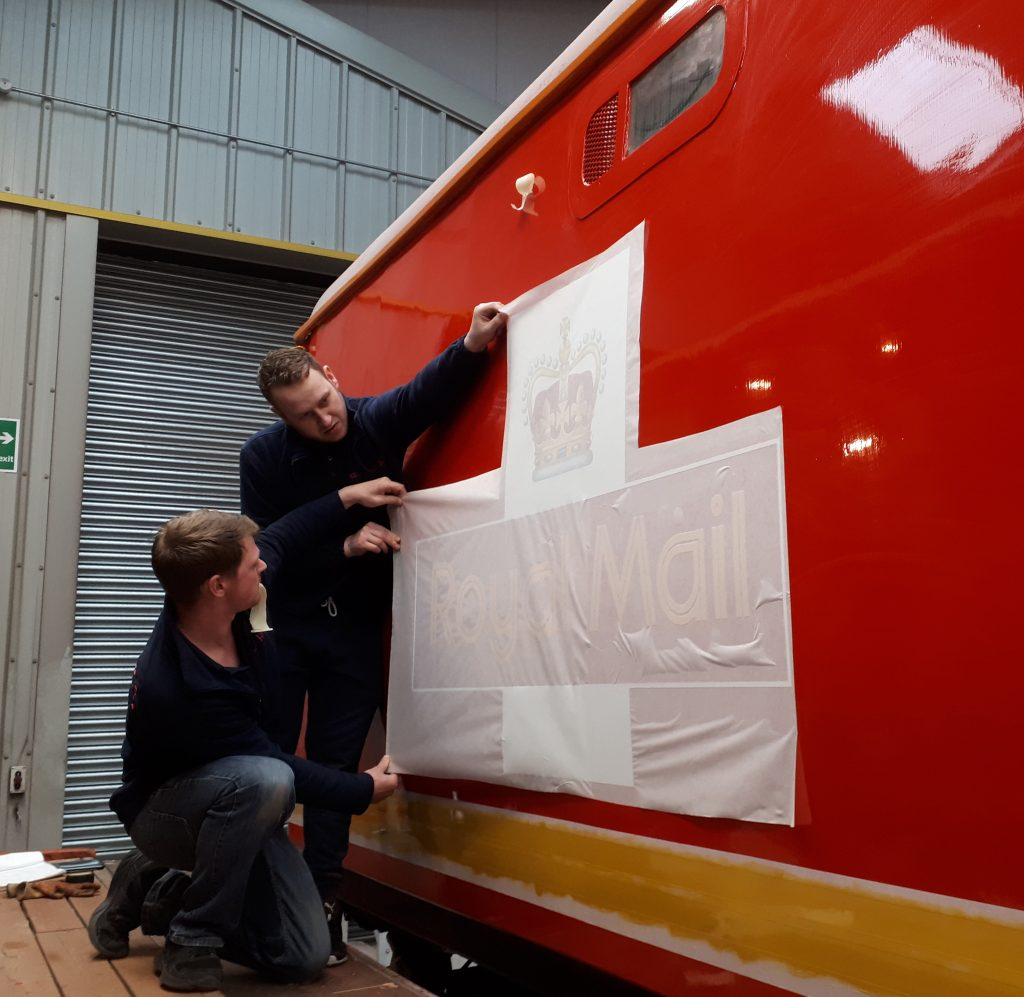 The vinyls being applied by PPS