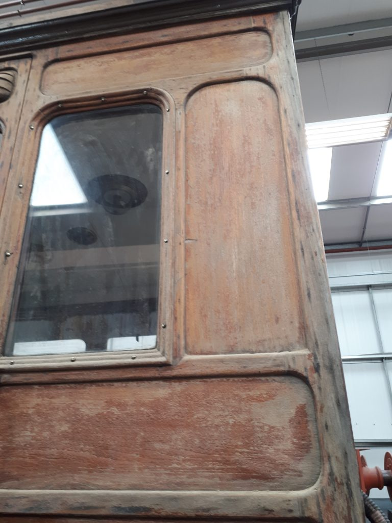 Some of the weathered exterior on GER 5