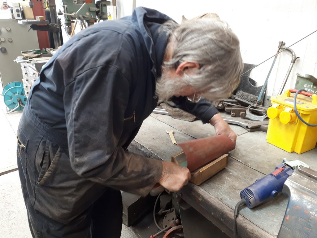 Alan attends to the axlebox bearing