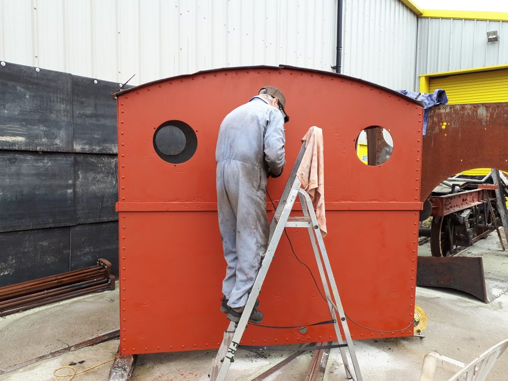 Fred working on Caliban's cab