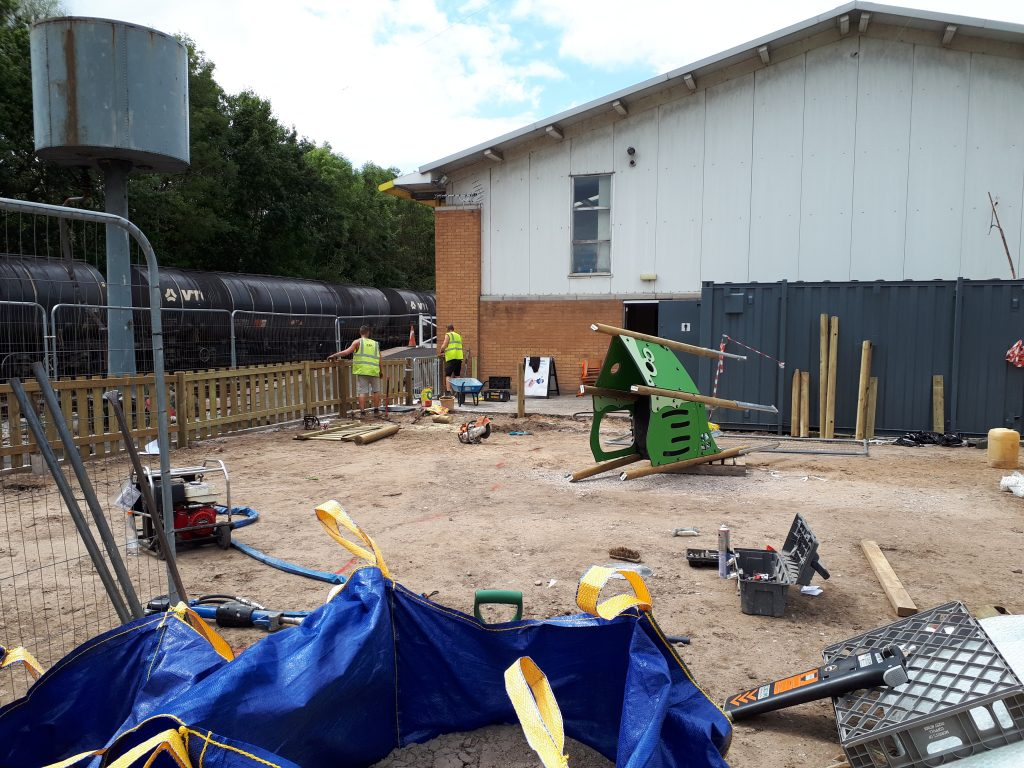 Work has started on the new RSR playground 010818