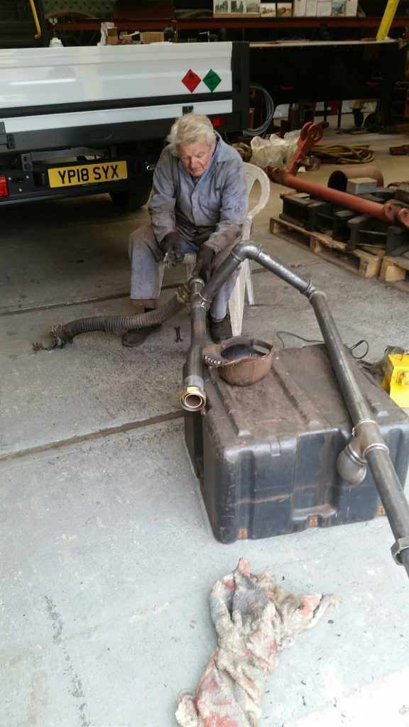Fred with the newly cleaned up vacuum pipework from FR 20