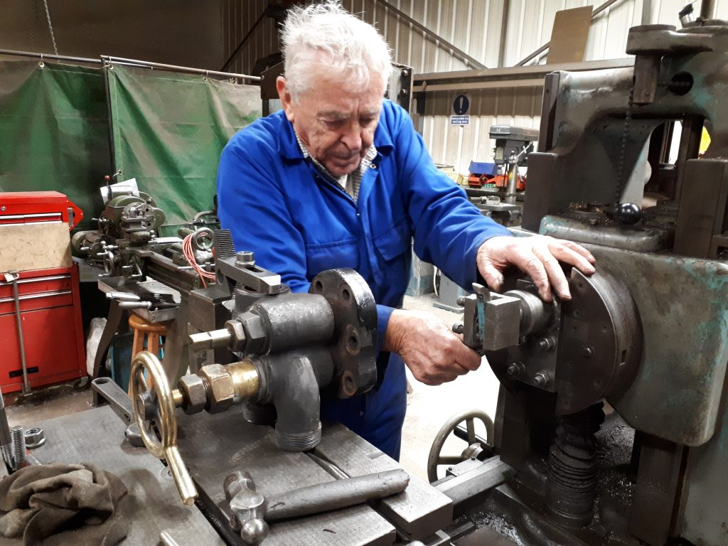 Bill Norton with Cumbria's fireman's side stem valve