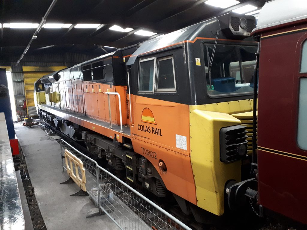 70 802 in the RSR running shed