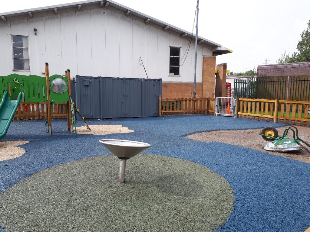 Nearly finished - the new children's playground