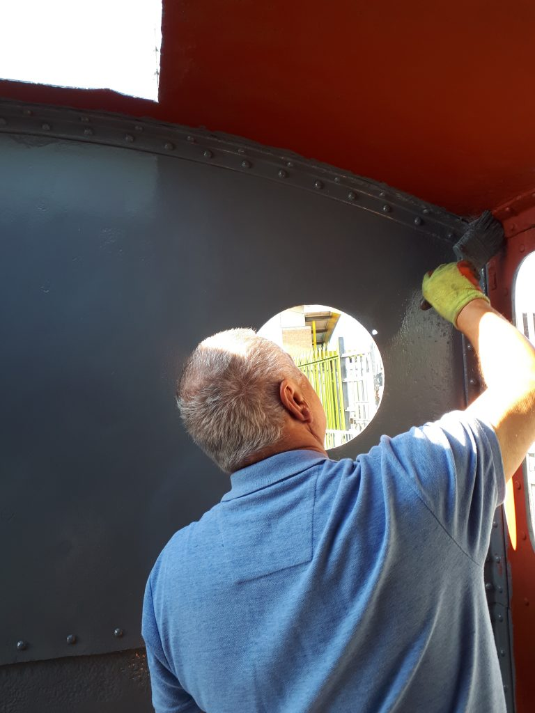 John Davis painting Caliban's cab