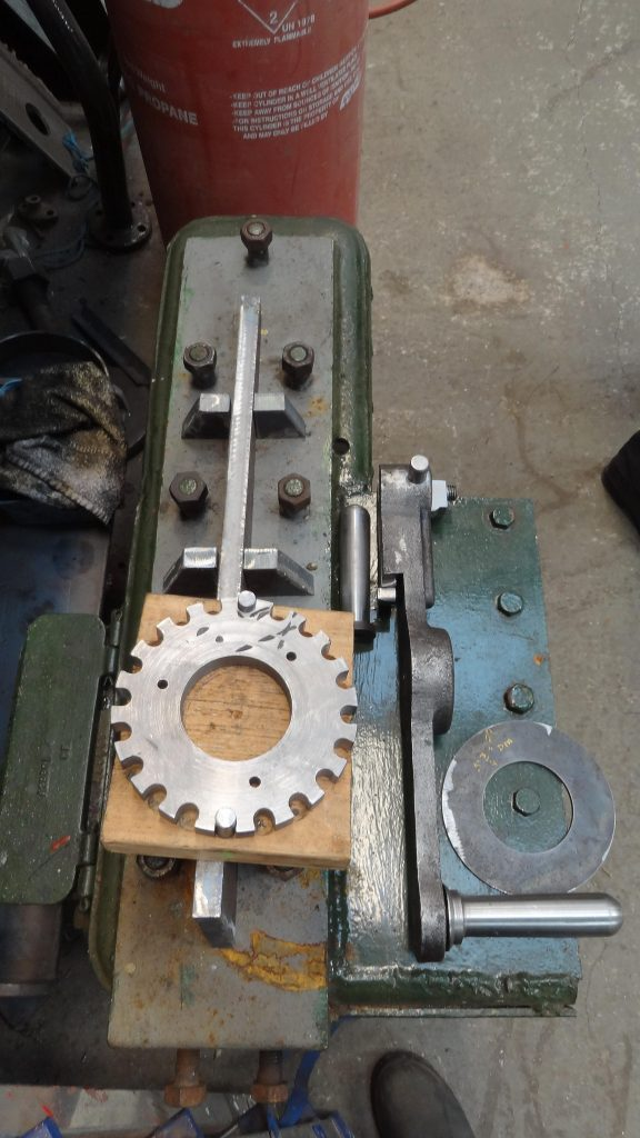 Newly manufactured cog for Wootton Hall's reverser