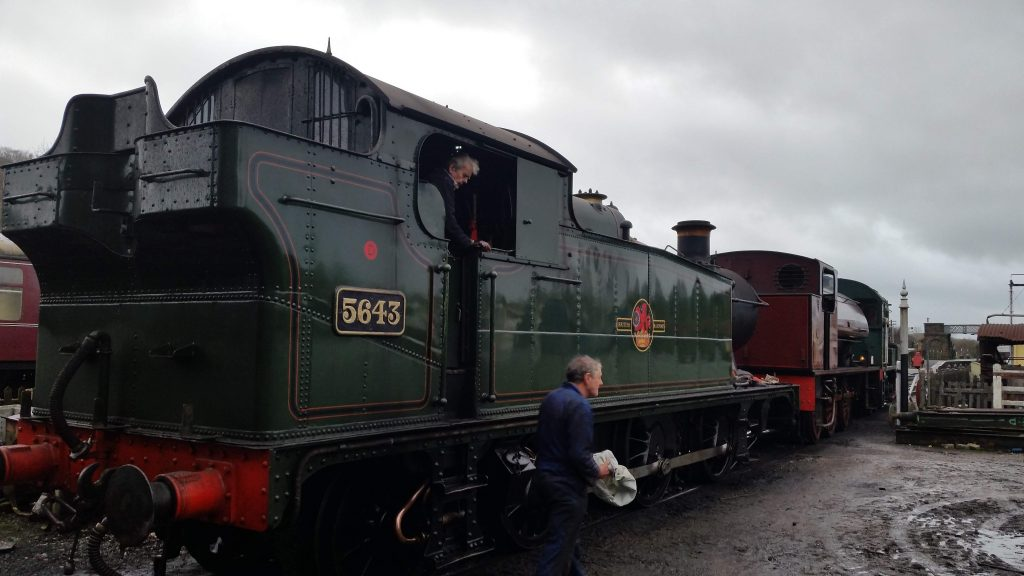 Fred and Keith with 5643 and Cumbria at Embsay