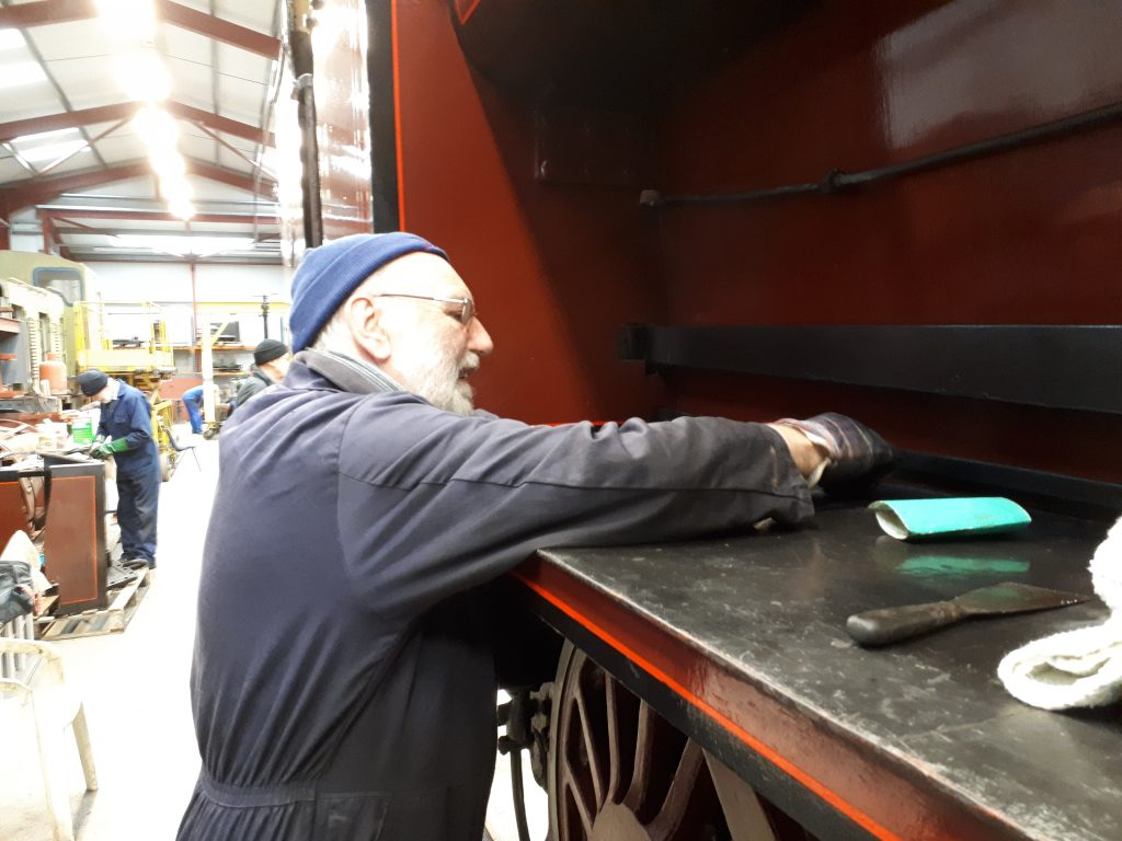 Phil rubs down Cumbria's running board