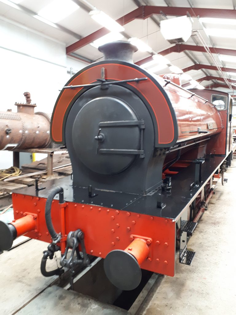 Cumbria, with shiny running board, ready to leave the FRT shed