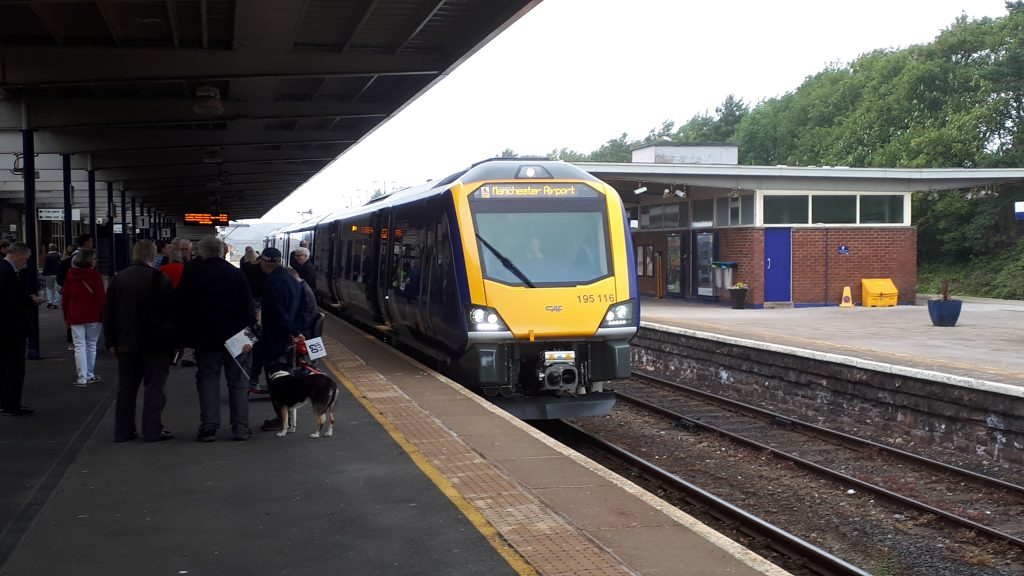 10.46 Barrow to Manchester Airport on the first day of the new service