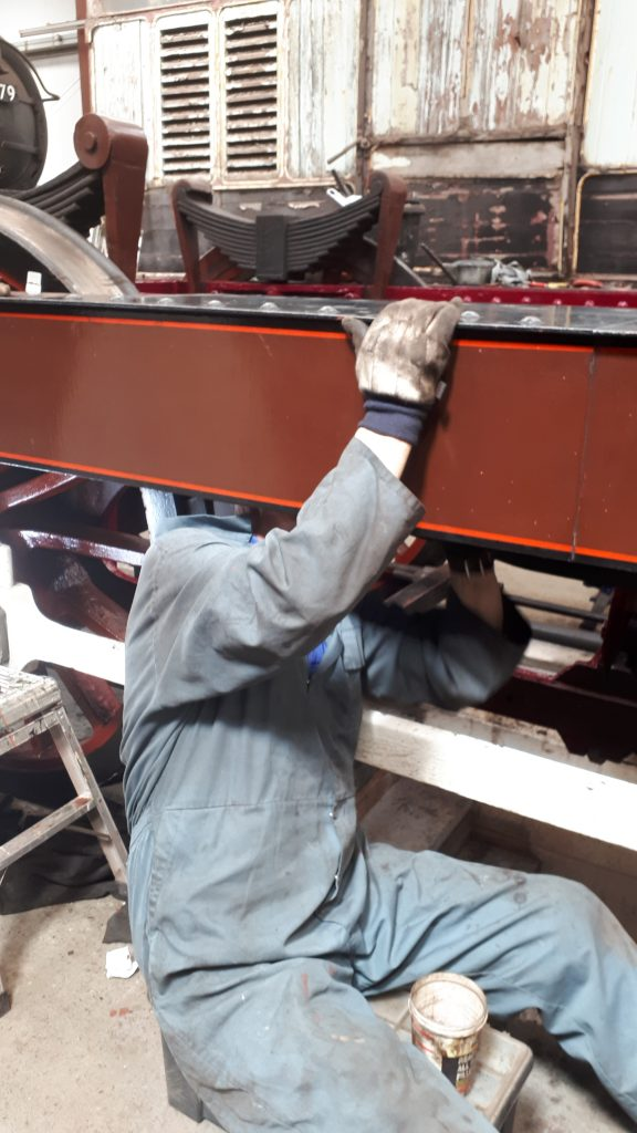 John Dixon painting underneath FR 20's running board