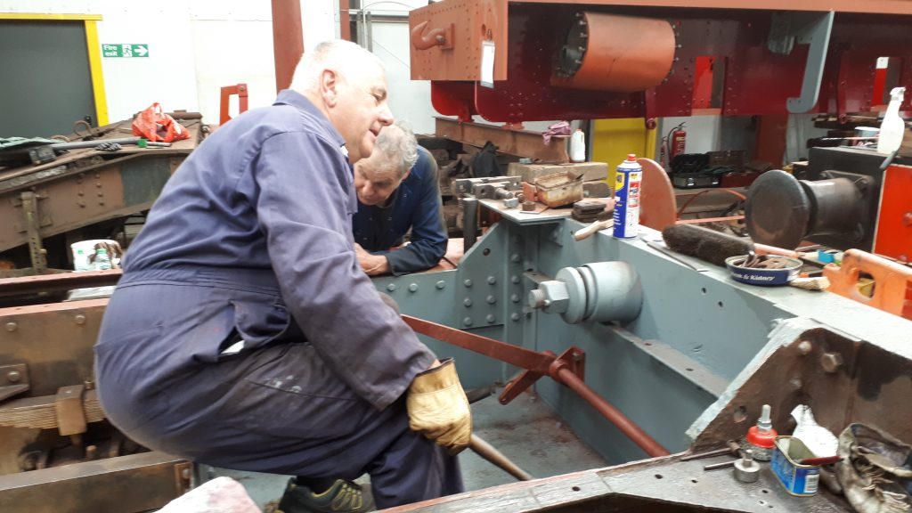 John Davis with Fluff's re-installed clutch control mechanism