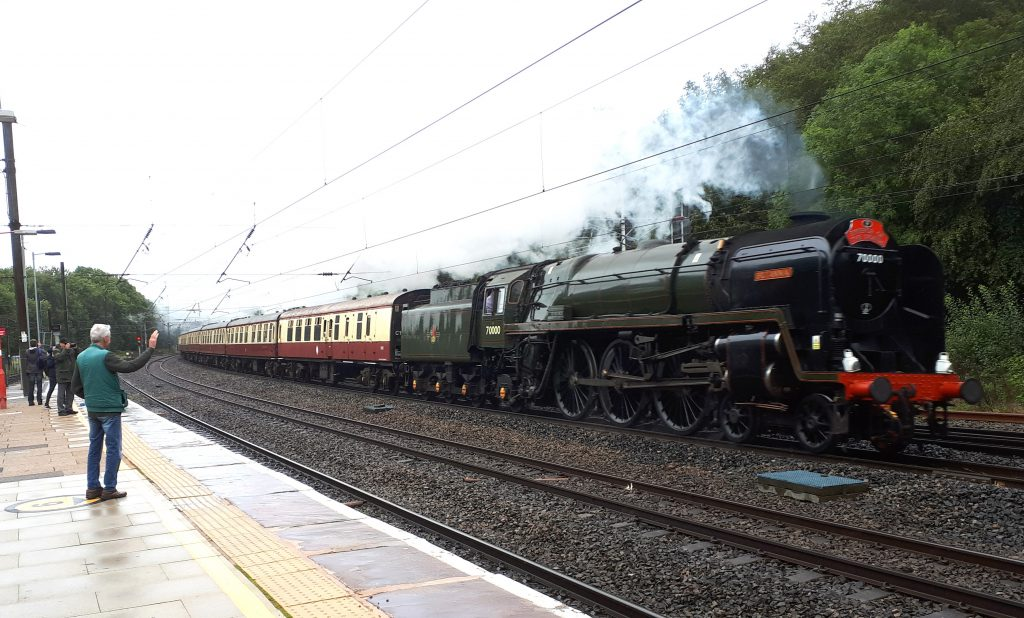 Britannia speeds through Lancaster