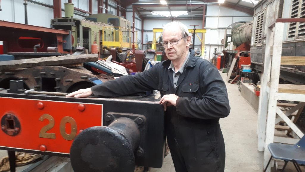 John Dixon fitting new wood to FR 20's front buffer beam