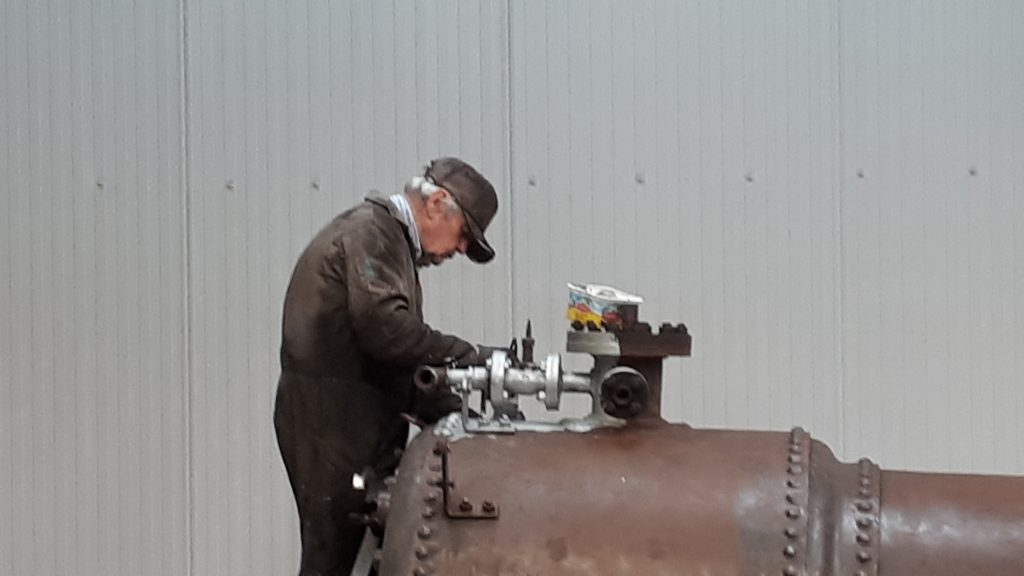 Fred painting FR 20's firebox
