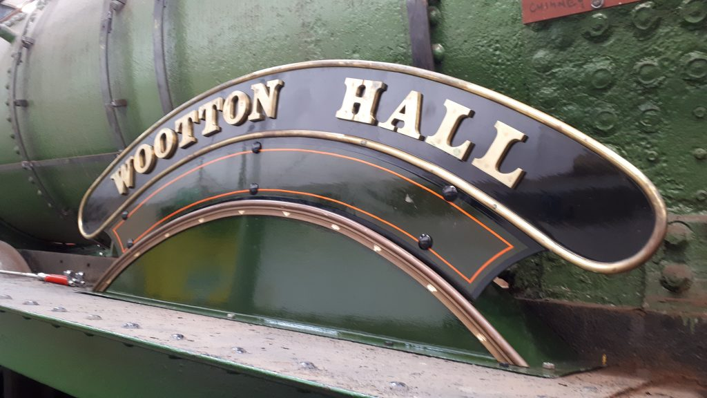 Newly fitted splasher supporting one of Wootton hall's nameplates