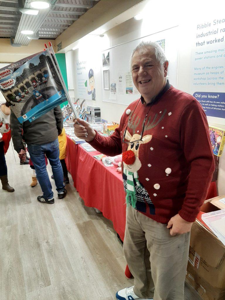 John Davis in festive mood