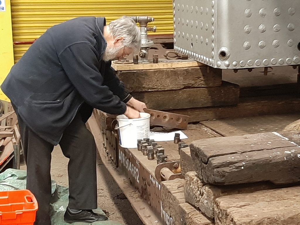 Alan fitting washout plugs to FR 20's boiler