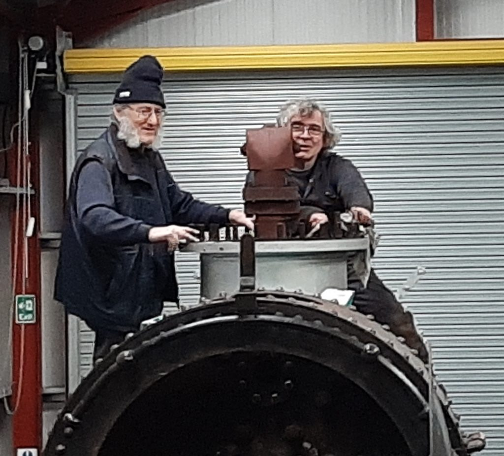 Alan and Ade at work on FR 20's boiler