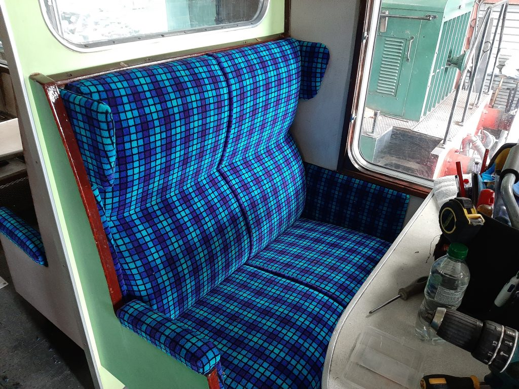 Refurbished seating in the RSR TSO