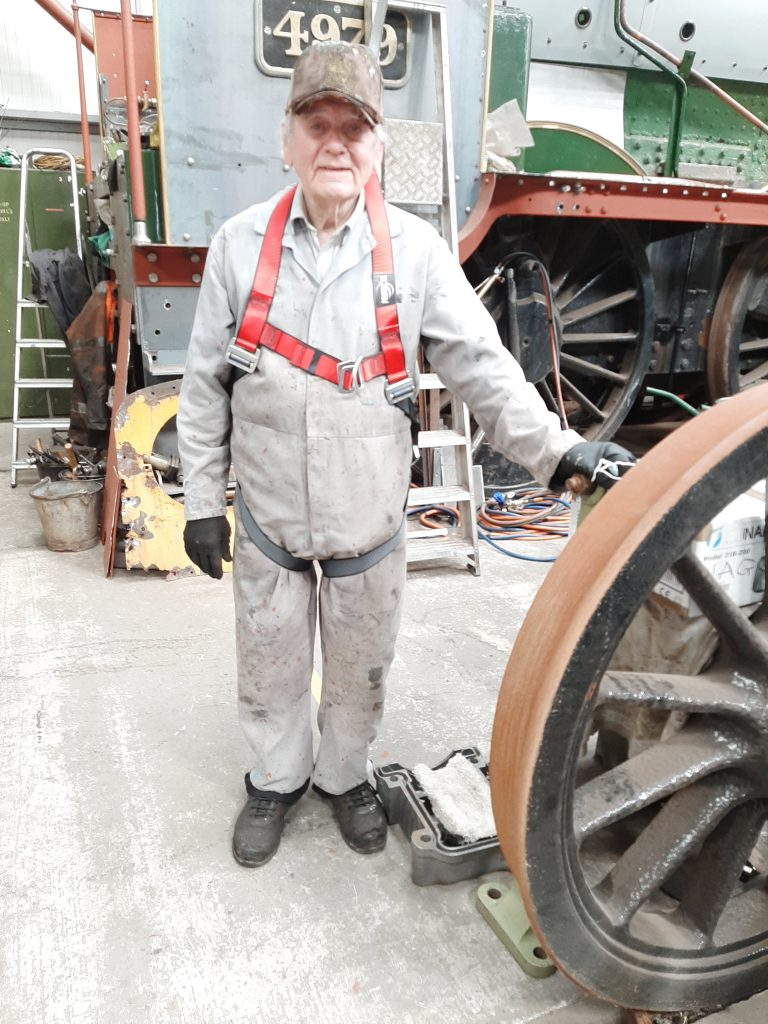 Fred with safety wire harness