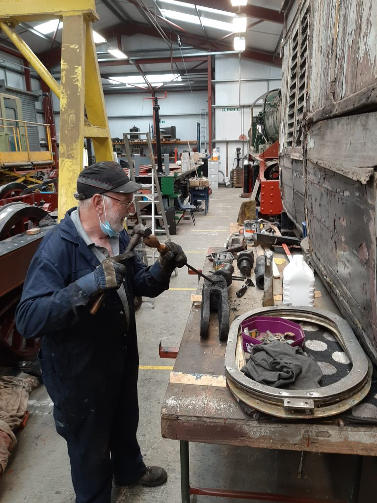 Phil Bell further dismantling the brake gear