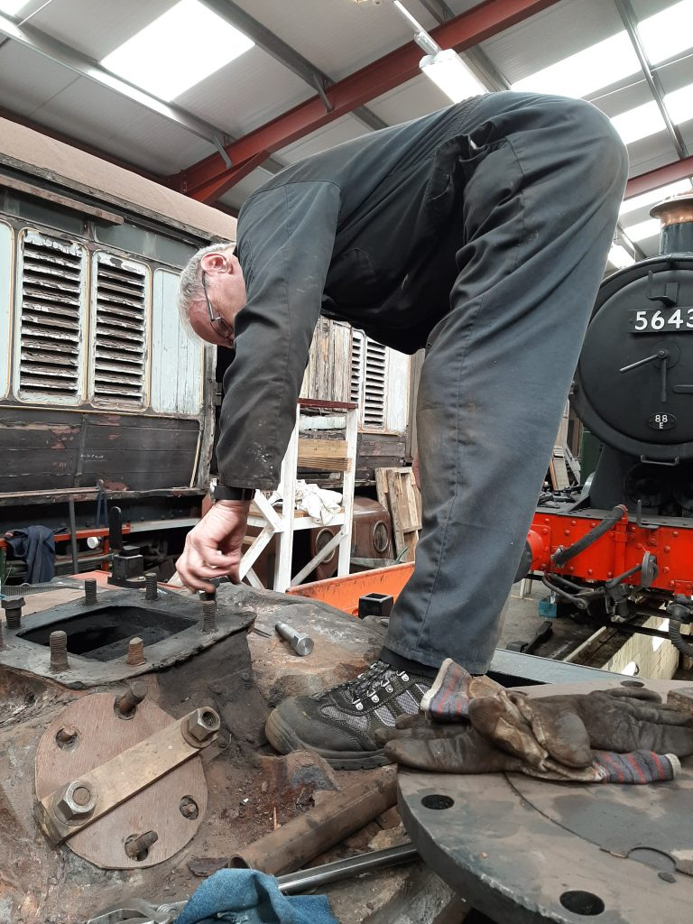 John Dixon repairing studs on FR 20